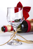 Decorated wine glass Stock Image