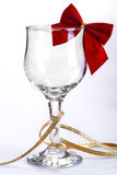 Decorated wine glass Stock Images