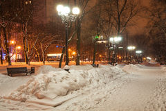 Decorated winter city park Stock Image