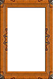 Decorated wood portrait frame. Richly decorated wood frame for pictures and portraits royalty free illustration