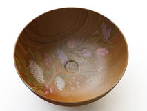 Decorated Wooden Bowl Stock Photography