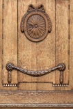 Decorated wooden door Royalty Free Stock Photo