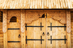 Decorated Wooden Gate Stock Photos