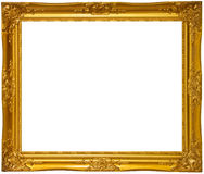 Decorated wooden photo frame Stock Photography