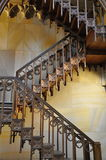 Decorated wooden stairs. Wooden stairs from gothic church, taken in Berlin Royalty Free Stock Photo