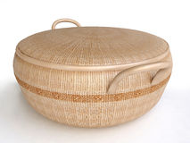 Decorated Woven Basket With Cover Royalty Free Stock Photo