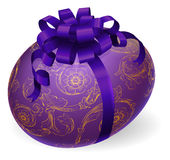 Decorated Wrapped Easter Egg Stock Photo