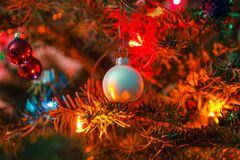 Decorated x-mas tree Royalty Free Stock Photo