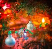 Decorated x-mas tree Royalty Free Stock Photos