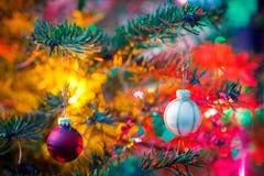 Decorated x-mas tree Stock Image