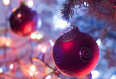 Decorated Xmas tree Royalty Free Stock Photos