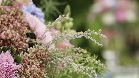 Decorateds weddings arch elements stock footage