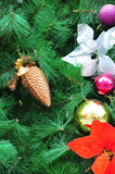 Decorates at christmas tree Stock Photo