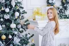 Decorates christmas tree stock images