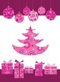 Decoratie 5 van Kerstmis Royalty-vrije Stock Afbeeldingen
