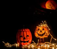 Decoratie aan Halloween Royalty-vrije Stock Afbeeldingen