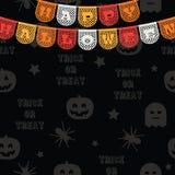Decoratie aan Halloween Stock Foto's