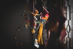 Decoratie binnen een huis met origami royalty-vrije stock foto's