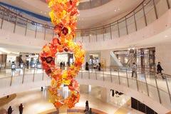 Decoratie binnen van wandelgalerij 360 in Koeweit Stock Foto