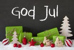Decoratie, Cement, Sneeuw, de Middelen Vrolijke Kerstmis van Godsjuli Royalty-vrije Stock Foto