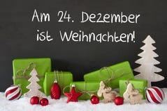 Decoratie, Cement, Sneeuw, Weihnachten-Middelenkerstmis Stock Foto's