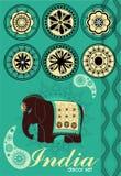 Decoratie die in Indische stijl wordt geplaatst Royalty-vrije Stock Afbeelding