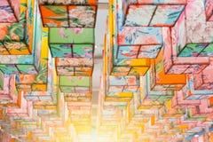 Decoratie kleurrijke document lamp Stock Fotografie
