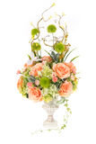 Decoratie kunstmatige plastic bloem met uitstekende ontwerpvaas, 2 Stock Afbeeldingen
