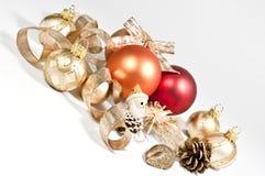 Decoratie met Kerstmisballen Royalty-vrije Stock Foto