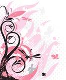 Decoratie met roze florals Royalty-vrije Stock Foto