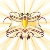 Decoratie met schild Royalty-vrije Stock Fotografie