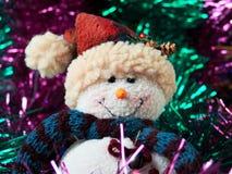 Decoratie met sneeuwman Stock Foto's