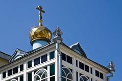 Decoratie op het dak van de kloostergebouwen Royalty-vrije Stock Foto's