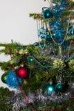 Decoratie op Kerstboom Gelukkige Newyear Concept energie Stock Foto's