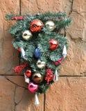 Decoratie op muur voor Kerstmis Royalty-vrije Stock Fotografie