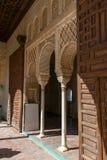 Decoratie in Patio DE La Acequia in La Alhambra stock foto