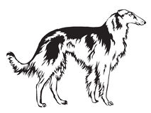 Decoratie Russian wolfhound vector illustration.eps Stock Photo