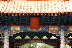 Decoratie in Tempel van Confucius, het grootst van Yunnan, China Jianshui, Yunnan, China royalty-vrije stock foto