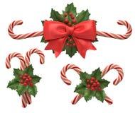 Decoratie van cristmas candys Stock Afbeeldingen