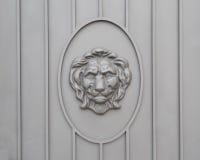 Decoratie van de leeuw de hoofddeur Stock Afbeelding