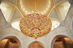 Decoratie van de Moskee van Zayed van de Sjeik. Abu Dhabi Stock Fotografie