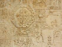 Decoratie van de voorzijde van de orthodoxe kerk Stock Foto's