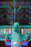 Decoratie van een Chinese Boeddhistische tempel Stock Foto