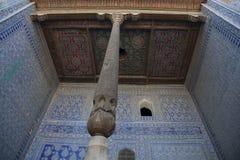 Decoratie van een moskee in Oezbekistan Stock Afbeelding