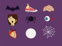 Decoratie van Halloween Vector Illustratie