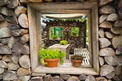 Decoratie van het huis van brandhout Royalty-vrije Stock Fotografie