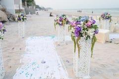 Decoratie van huwelijksbloemen royalty-vrije stock afbeelding