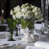 Decoratie van huwelijkslijst Royalty-vrije Stock Foto
