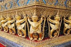 Decoratie van Ubosoth, Bangkok, Thailand Stock Fotografie