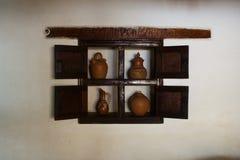 Decoratie in venster royalty-vrije stock afbeelding
